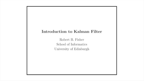 Thumbnail for entry Advanced Vision: Kalman filter