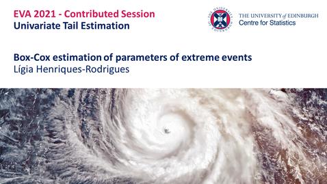 Thumbnail for entry Univariate Tail Estimation : Lígia  Henriques-Rodrigues