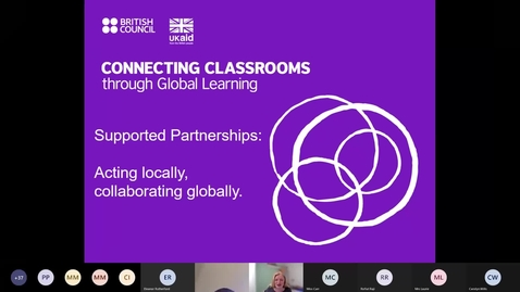 Thumbnail for entry Supported Partnerships with Connecting Classrooms through Global Learning