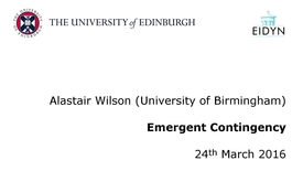 Thumbnail for entry Alastair Wilson: Emergent Contingency