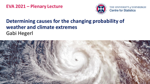 Thumbnail for entry Plenary Lecture I:  Gabi Hegerl