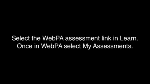 Thumbnail for entry Marking group work in WebPA
