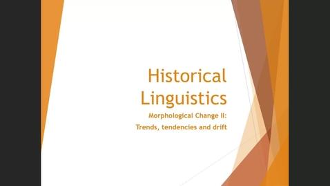 Thumbnail for entry Morphological Change II