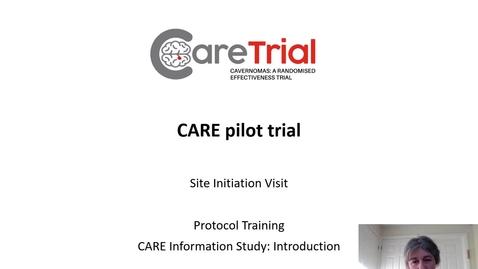 Thumbnail for entry Video 2 - CARE Study Protocol Training - Information Study (Part 1 - Introduction)