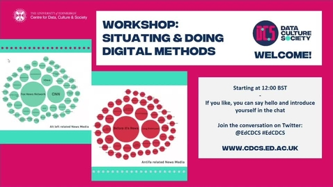 Thumbnail for entry Workshop: Situating & Doing Digital Methods