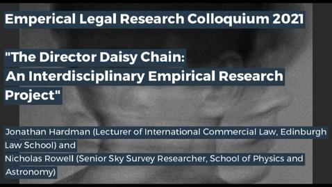 Thumbnail for entry Edinburgh Legal Research Network Colloquium - Part 1