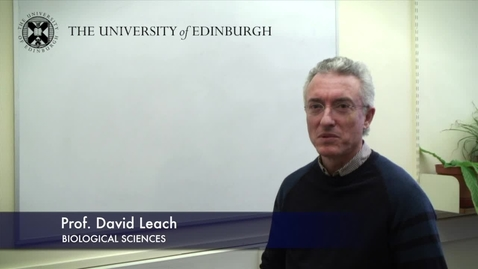 Thumbnail for entry David Leach - Biological Sciences- Research In A Nutshell - School of Biological Sciences -21/01/2013