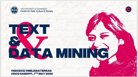 Thumbnail for entry TextMining and CDCS - Introduction to Defoe, and the text mining sandpit