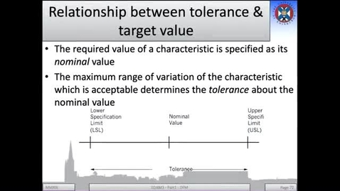 Thumbnail for entry 3b - Relationship between tolerance and target value