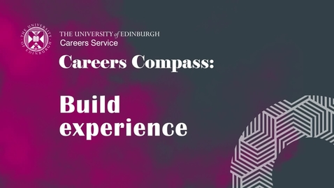 Thumbnail for entry Careers Compass: Build Experience