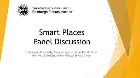 Thumbnail for entry Smart Places Panel Discussion