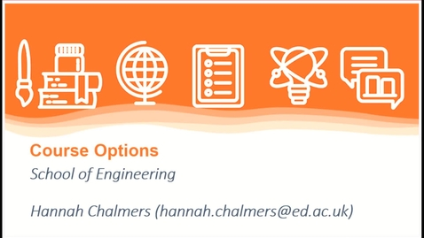 Thumbnail for entry Engineering Options Introduction