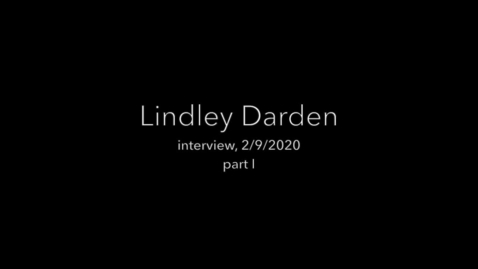 Thumbnail for entry Darden interview part 1