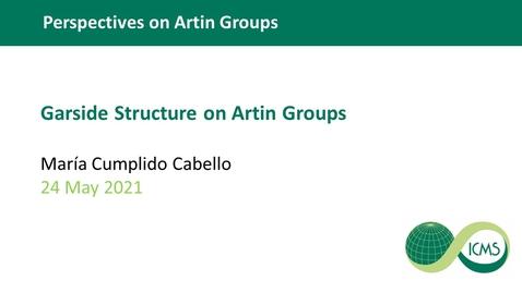 Thumbnail for entry Garside Structure on Artin Groups - María Cumplido Cabello