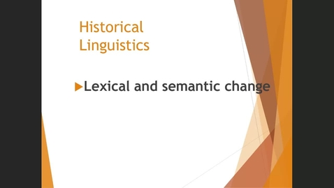 Thumbnail for entry Lexical and semantic change