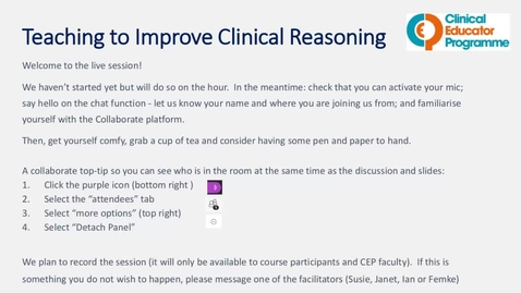 Thumbnail for entry Teaching to Improve Clinical Reasoning 8.6.21