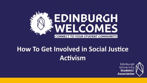 Thumbnail for entry (UG/PG) How- to get involved in social justice activism