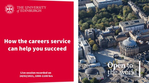 Thumbnail for entry How the careers service can help you succeed-1