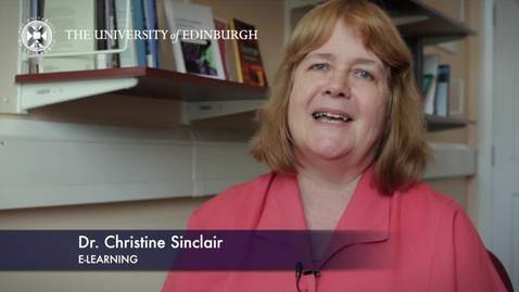 Thumbnail for entry Christine Sinclair-E learning-Research In A Nutshell-The Moray House School of Education-02/08/2012