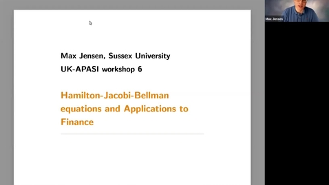 Thumbnail for entry UK-APASI in Mathematical Sciences - Max Jensen