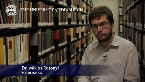 Thumbnail for entry Miklos Rasonyi- Mathematics- Research In A Nutshell - School of Mathematics -13/11/2012