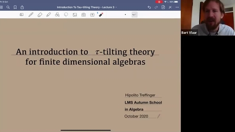 Thumbnail for entry Hipolito Treffinger: Tau-tilting theory for finite dimensional algebras