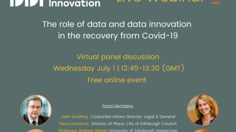 Thumbnail for entry DDI Webinar: The role of data and data innovation in the recovery from Covid-19
