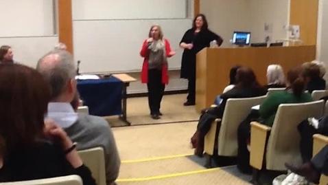 Thumbnail for entry Nicola Osborne and Susan Morrison perform a mini Bright Club Set for University of Edinburgh Senate Meeting