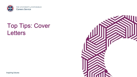 Thumbnail for entry Top Tips: Cover Letters