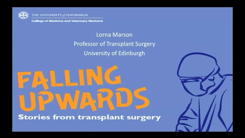 Thumbnail for entry Inaugural Lecture - Prof Lorna Marson
