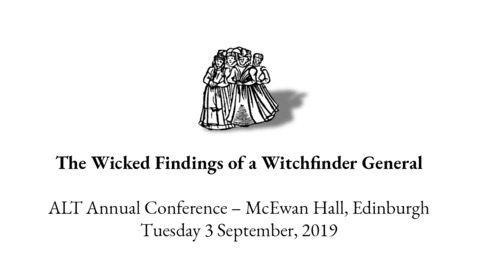 Thumbnail for entry ALT C - The Wicked Findings of a Witchfinder General