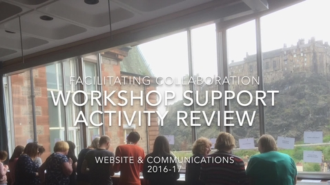 Thumbnail for entry Workshop facilitation review 2016-17 - Website and Communications - Information Services
