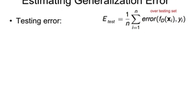 Thumbnail for entry Estimating the Generalization Error
