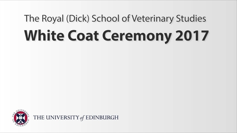 Thumbnail for entry White Coat Ceremony 2017