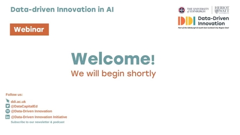 Thumbnail for entry #DDIdiscussions | Data-driven innovation in AI