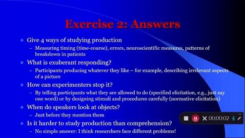 Thumbnail for entry Language Production Lecture 1 Part 3