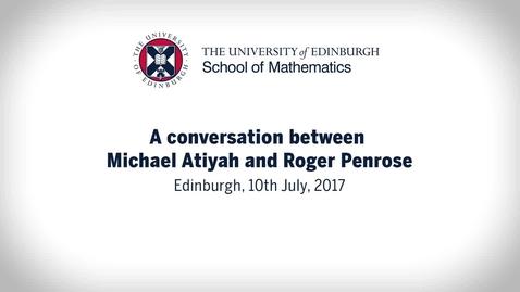 Thumbnail for entry Atiyah Penrose conversation