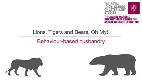 Thumbnail for entry Animal Welfare 5-1 Behaviour Based Husbandry