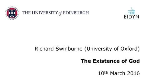 Thumbnail for entry Richard Swinburne: The Existence of God