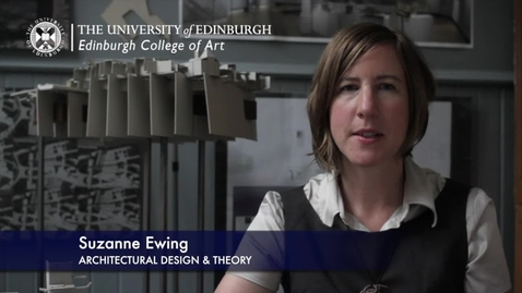Thumbnail for entry Suzanne Ewing -Architectural Design & Theory - Research In A Nutshell-Edinburgh College of Art-19/10/2012