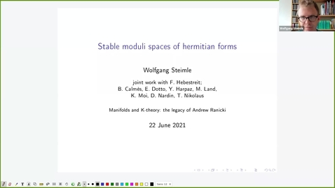 Thumbnail for entry Stable moduli spaces of hermitian forms -  Wolfgang Steimle