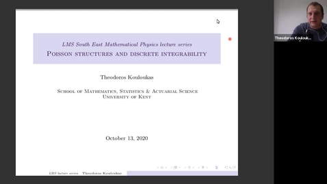 Thumbnail for entry South East Mathematical Physics Seminars: Theodoros Kouloukas (Lecture 2)