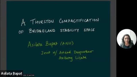 Thumbnail for entry January 27 2021 Asilata Bapat A Thurston compactification of Bridgeland stability space