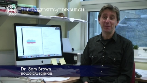 Thumbnail for entry Sam Brown - Biological Sciences- Research In A Nutshell - School of Biological Sciences -22/01/2013