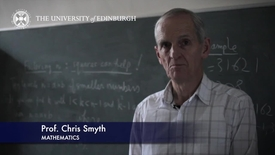 Thumbnail for entry Chris Smyth- Mathematics- Research In A Nutshell - School of Mathematics -16/11/2012