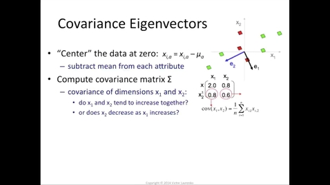 Thumbnail for entry Principal components = eigenvectors