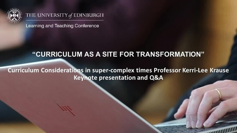 Thumbnail for entry LTC 2021 - Day 1 Kerri-Lee Krause Keynote presentation with BSL interpretation