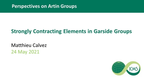 Thumbnail for entry Strongly Contracting Elements in Garside Groups - Matthieu Calvez
