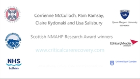 Thumbnail for entry Scottish NMAHP Research award winners
