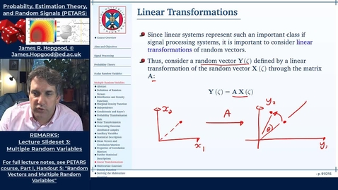 Thumbnail for entry Topic 37: Linear Transformations  (PETARS, Chapter 5)